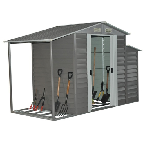 Outsunny Metal Outdoor Garden Storage Shed